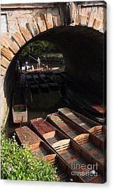 Oxford Punts Acrylic Print by Andrew  Michael