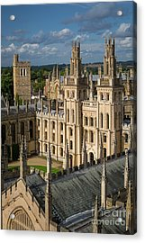 Acrylic Print featuring the photograph Oxford Spires by Brian Jannsen