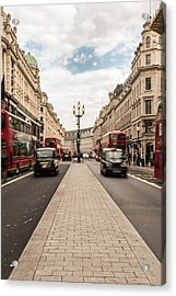 Oxford Street In London Acrylic Print