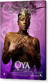 Oya Acrylic Print by James C Lewis