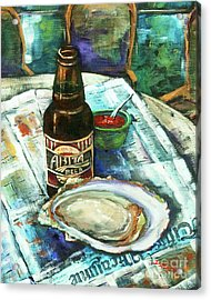 Oyster And Amber Acrylic Print