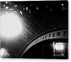 Oyster Bar At Grand Central Acrylic Print