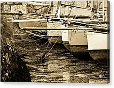 Oyster Boats Laid Up At Mylor Acrylic Print