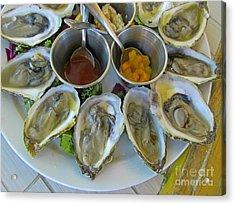 Oysters In Season Acrylic Print by John Malone