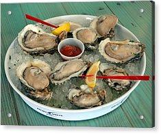 Oysters On The Half Shell Acrylic Print by Carla Parris