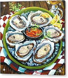 Oysters On The Half Shell Acrylic Print
