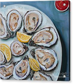 Oysters On The Half Shell Acrylic Print by Kristine Kainer