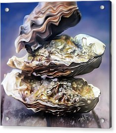 Oysters On The Half Shell  Acrylic Print by Mark Tonelli