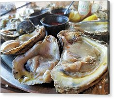 Oysters On The Halfshell  Acrylic Print by JC Findley