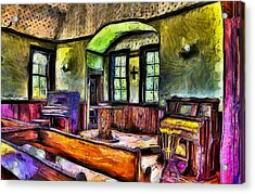 Oysterville Church Interior Acrylic Print