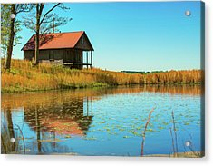 Acrylic Print featuring the photograph Ozark Mountain House Reflections - Arkansas by Gregory Ballos