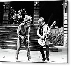 Ozzy Osbourne And Randy Rhoads 1981 Acrylic Print by Chris Walter