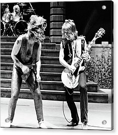 Acrylic Print featuring the photograph Ozzy Osbourne And Randy Rhoads 1981 - Square by Chris Walter