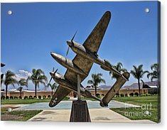 P-38 Memorial March Field Museum Acrylic Print by Tommy Anderson