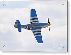 Acrylic Print featuring the photograph P-51 Mustang American Rose by Larry Keahey
