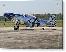 P-51 Mustang Acrylic Print by Donald Tusa