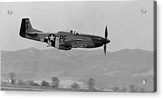P-51d Acrylic Print by BuffaloWorks Photography
