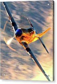 P-51d Grim Reaper And Dan Martin Acrylic Print