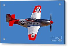 P-51d Mustang Flyby Acrylic Print