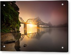 P And Le Ohio River Railroad Bridge Acrylic Print