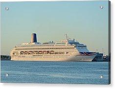 Acrylic Print featuring the photograph P And O Oriana Cruise Ship by Bradford Martin