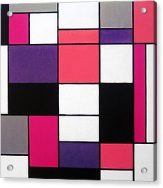 P Cubed Acrylic Print by Oliver Johnston