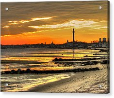 P Town Sunset Acrylic Print