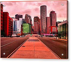 p1070558  Red City Acrylic Print by Ed Immar