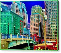 p1070571b  Boston  Bridge Acrylic Print by Ed Immar