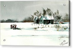 Winter's Farm Chill Acrylic Print by Art Scholz