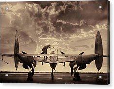 P38 Sunset Mission V2 Acrylic Print