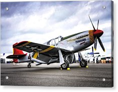 P51-c Mustang In Hdr Acrylic Print by Michael White