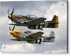 P51 Mustangs Acrylic Print