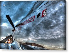 Acrylic Print featuring the photograph P51d Mustang Shows Off Its Nazi Kills by John King