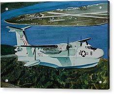 P5m Over North Island Acrylic Print by Dwight Williams