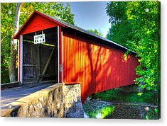 Pa Country Roads - Witherspoon Covered Bridge Over Licking Creek No. 4b - Franklin County Acrylic Print