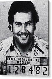 Pablo Escobar Mug Shot 1991 Vertical Acrylic Print