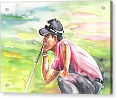 Pablo Larrazabal Winning The Bmw Open In Germany In 2011 Acrylic Print by Miki De Goodaboom