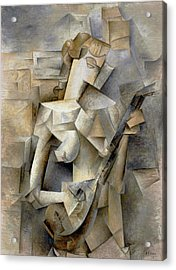Pablo Picasso Girl With A Mandolin 1910 Acrylic Print
