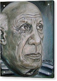 Pablo Picasso Acrylic Print by Martel Chapman