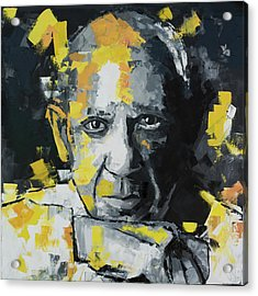 Acrylic Print featuring the painting Pablo Picasso Portrait by Richard Day