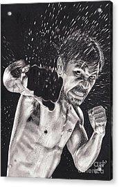 Pac-man Acrylic Print by Joshua Navarra