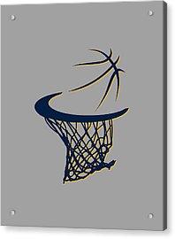 Pacers Basketball Hoop Acrylic Print by Joe Hamilton