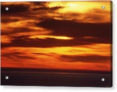 Pacific Backdrop  Acrylic Print by Soli Deo Gloria Wilderness And Wildlife Photography