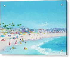 Pacific Beach In San Diego Acrylic Print by Jan Matson
