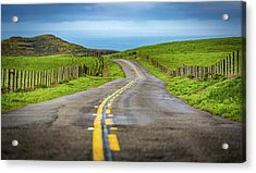 Pacific Coast Road To Tomales Bay Acrylic Print