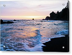 Acrylic Print featuring the photograph Pacific Coast Sunset by TL Mair