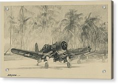 Pacific Corsairs Acrylic Print by Wade Meyers