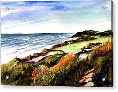 Acrylic Print featuring the painting Pacific Dunes Golf Course by Marti Green