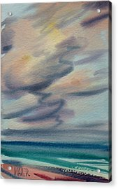 Pacific Evening Acrylic Print by Donald Maier